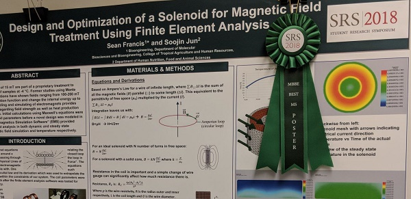 1st place at the 2018 Student Research Symposium