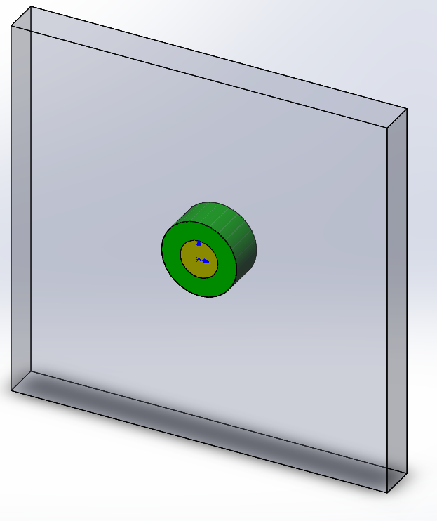 SolidWorks model of the dielectric cylinder