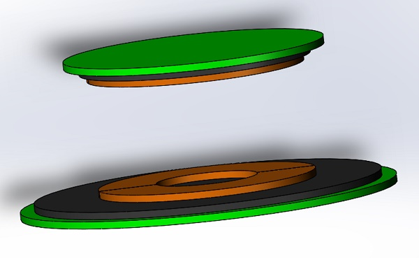 3D CAD model of the simulated WPT system