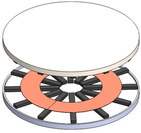 3D model of the full IPT circular charging system