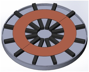 3D model of the primary circular charging pad