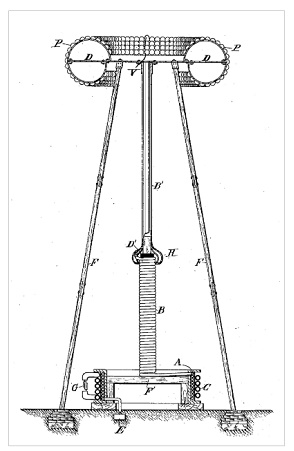 An image from Tesla's patent for an