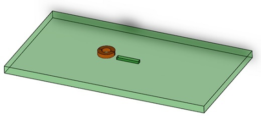 CAD model of simulated NDT example