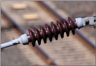 Ceramic insulator used on electrified railways