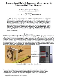 Examination of Halbach Permanent Magnet Arrays in Miniature Hall-Effect Thrusters