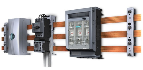 Example of busbar system used in circuit breaker SIMENS