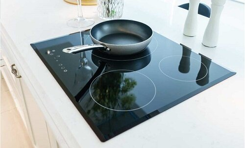 Induction cooktop installed in a home kitchen [1]