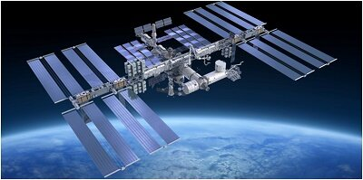 International Space Station powered by solar panels