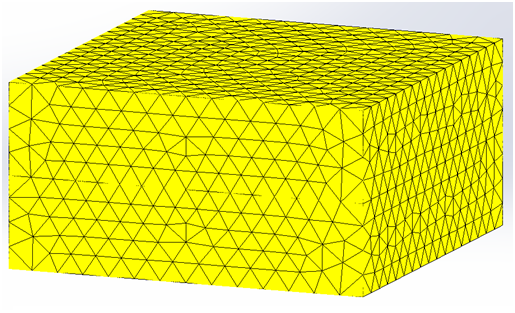 Mesh of the structure without the air region