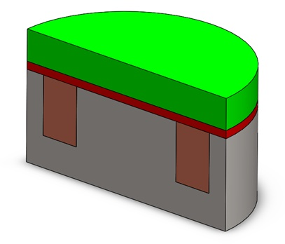 Section view of the 3D model