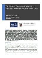 Simulation of an Organic Magnet in Switched Reluctance Motor Application