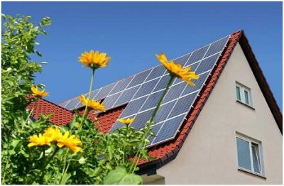 Solar Panels  used as source of energy in home