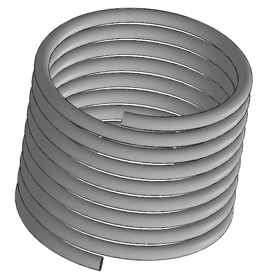 Solid coil used in the simulation