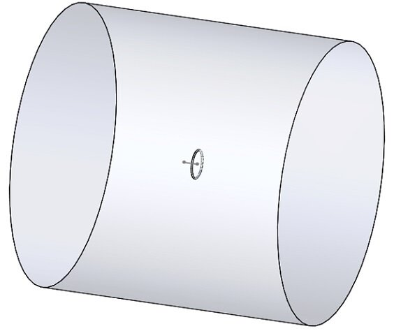Solidworks model of the studied example