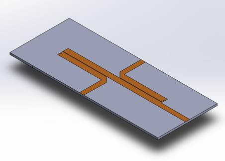 the structure's 3D view in SolidWorks