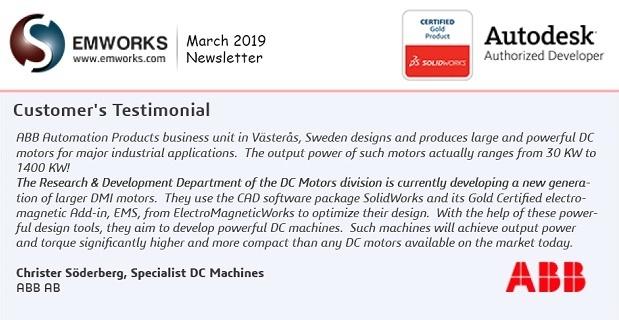 EMWorks Newsletter 2019