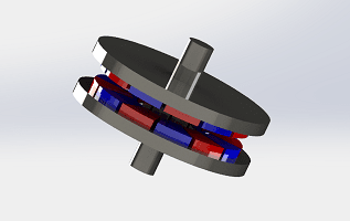 3D Simulation of Axial field Permanent Magnet coupling system using EMS and SOLIDWORKS Motion Coupling