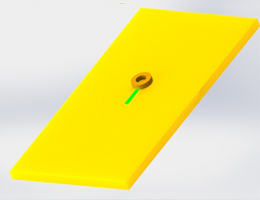 Eddy Current Testing: 3D simulation of probe with different excitation frequencies and crack sizes in EMS