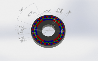 PERMANENT MAGNETS GEAR SYSTEM: 2D AND 3D ELECTROMAGNETIC SIMULATION INSIDE SOLIDWORKS