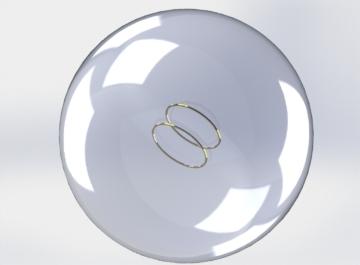 Numerical simulation of Helmholtz coil