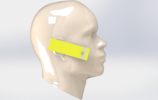 Simulation of a human head exposure to GSM/LTE/WLAN antenna radiation