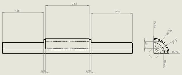 the dimensions of the line quarter's structure