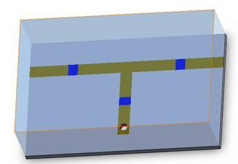 3D view of an RLC filter