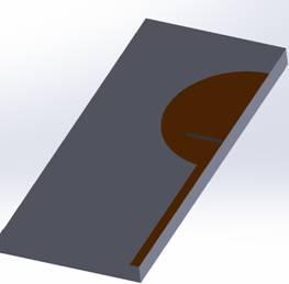 Circular Disc Monopole Antenna (3D SolidWorks view)