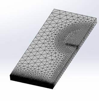 Mesh of the half DR filter