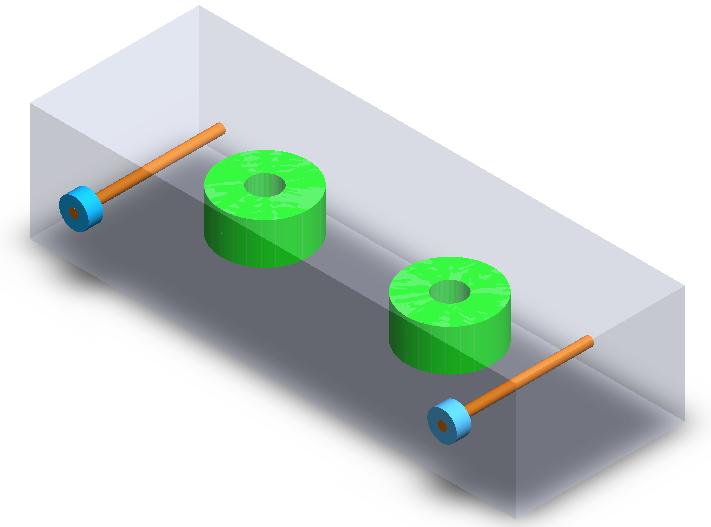 Half-wave DR filter (3D SolidWorks view)