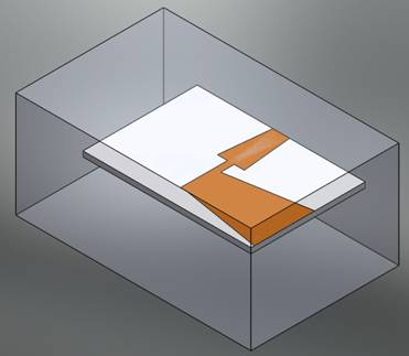 Helical antenna model (3D SolidWorks view)
