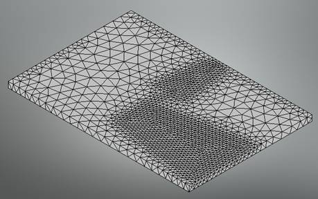 Mesh of the dipole antenna