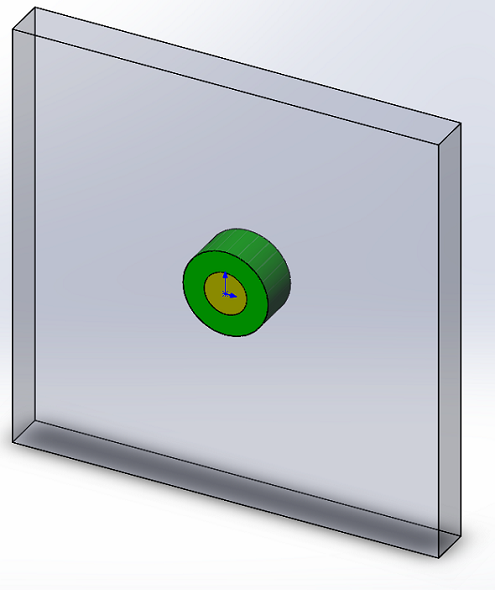 Two Layers Dielectric Cylinder in a Homogeneous Field