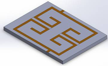 Coupled microstrip filter