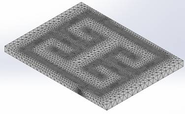Mesh of the Microstrip Filter